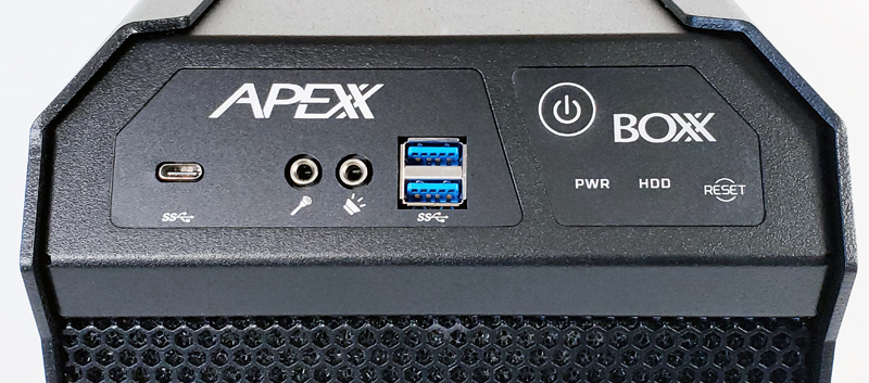 BOXX APEXX W3 Class Workstation Front Panel