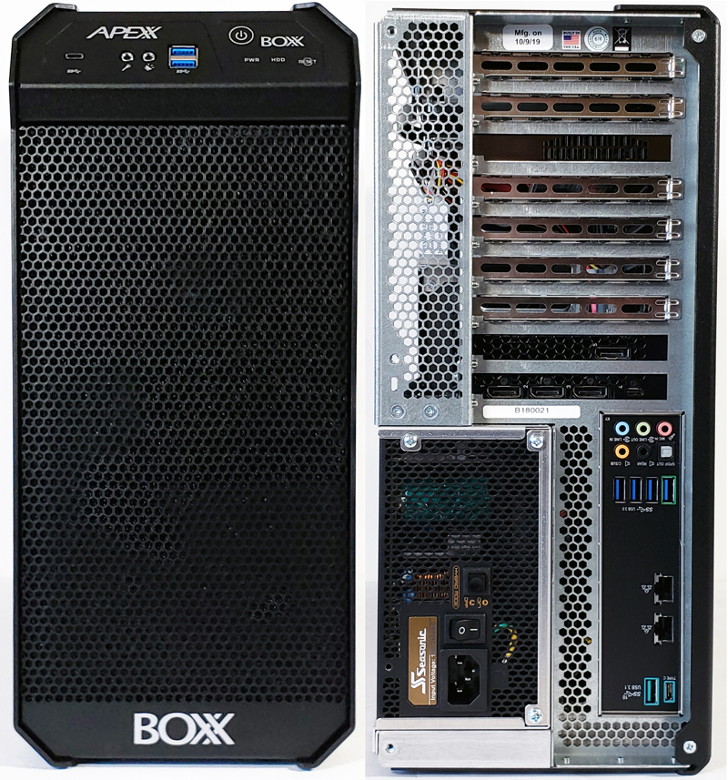 BOXX APEXX W3 Class Workstation Front And Back