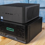 Intel NUC9VXQNX Quartz Canyon NUC Atop HPE ProLiant MicroServer Gen10 Plus