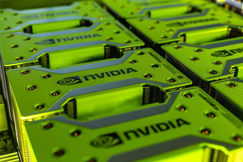 NVIDIA HGX 2 GPU Tray Coolers On Tesla V100 SXM3 GPUs
