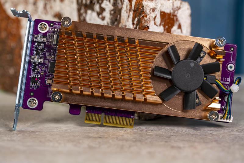 QNAP QM2 2S 220A Dual M.2 SATA SSD PCIe Card Front