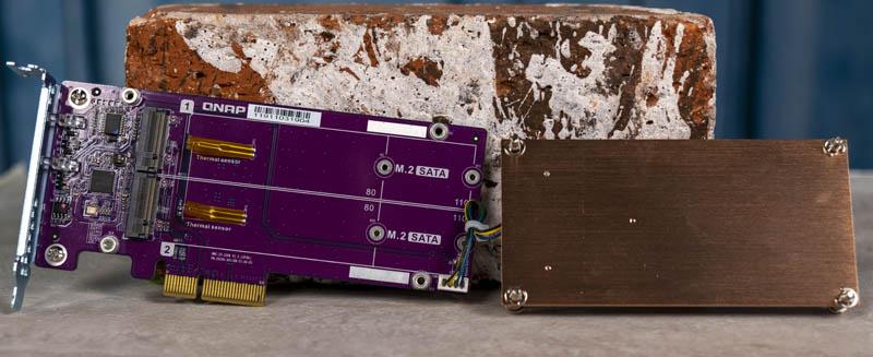 QNAP QM2 2S 220A Dual M.2 SATA SSD PCIe Card Open