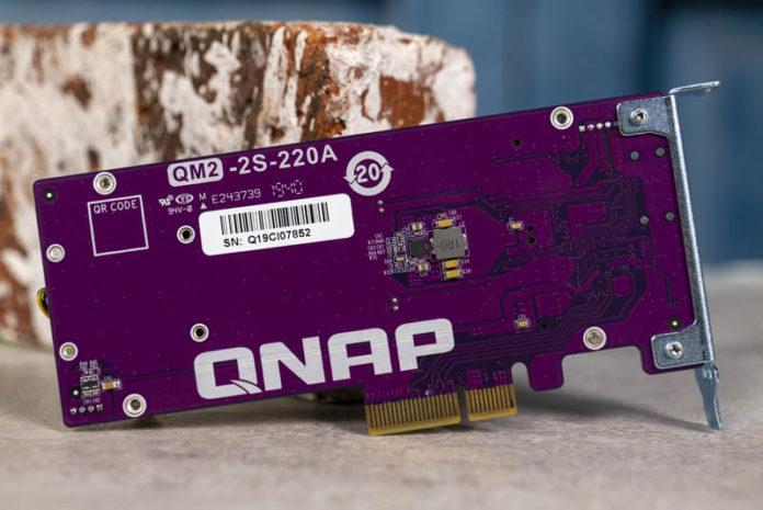QNAP QM2 2S 220A Dual M.2 SATA SSD PCIe Card Rear