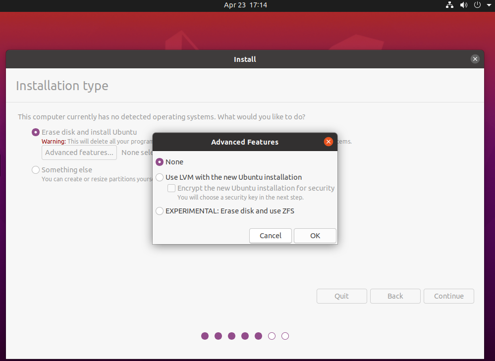 Ubuntu 20.04 LTS Use ZFS
