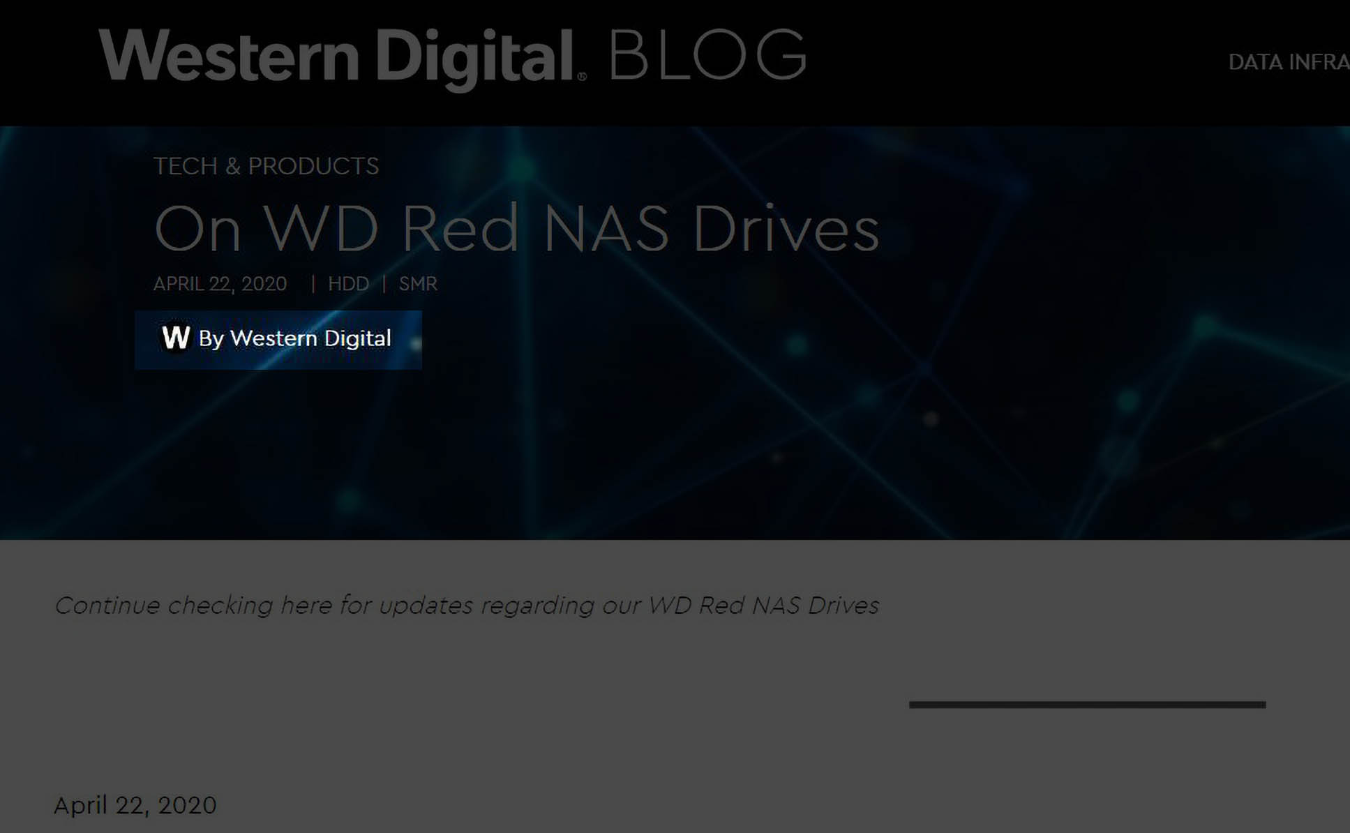 WD Segments 2020 04 22 On WD Red NAS Drives By Western Digital
