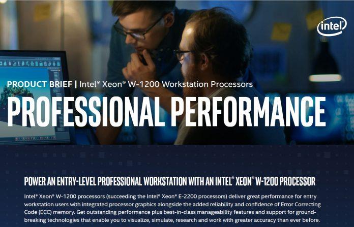 Intel Xeon W 1200 Series Cover