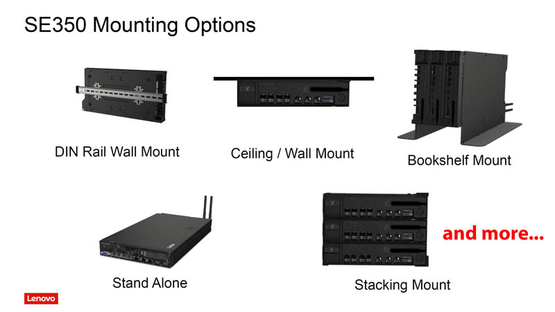 Lenovo ThinkSystem SE350 Mounting Solutions