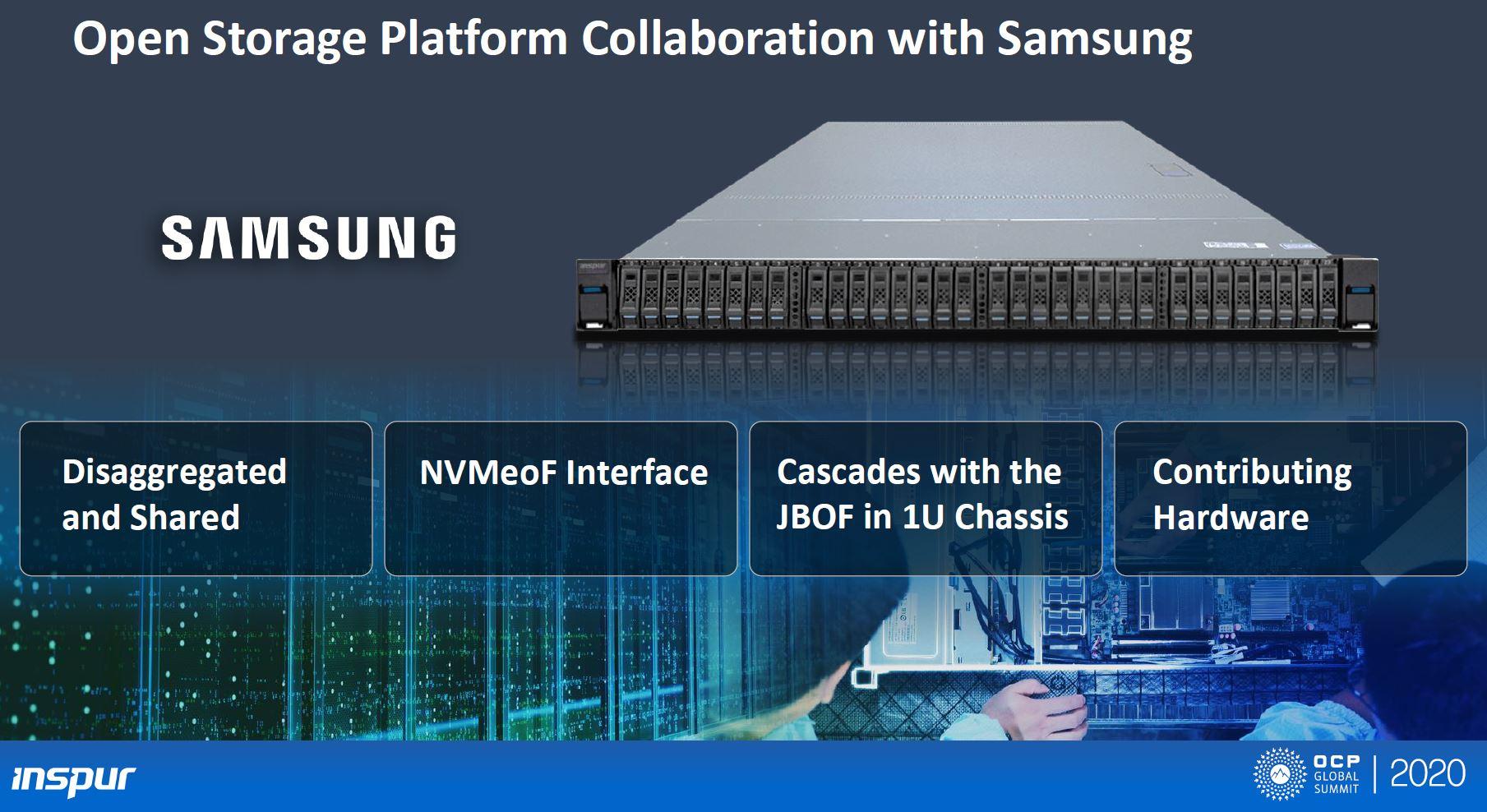 OCP 2020 Inspur Samsung 1U NVMeoF Design