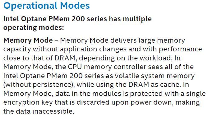 Intel Optane PMem 200 Data Sheet Memory Mode