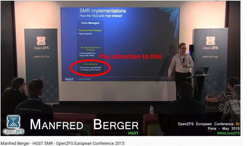 Manfred Berger HGST OpenZFS DM SMR Unpredictable Or Reduced Performance Highlighted