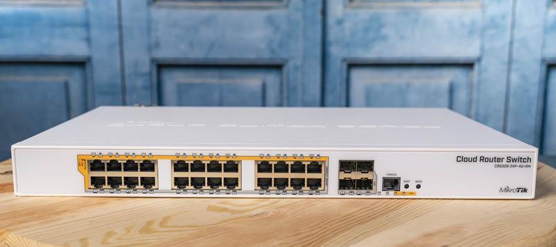 MikroTik CRS328 24P 4S+RM Front
