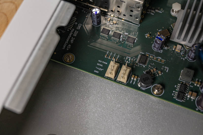 MikroTik CRS328 24P 4S+RM PWM Fan Labels