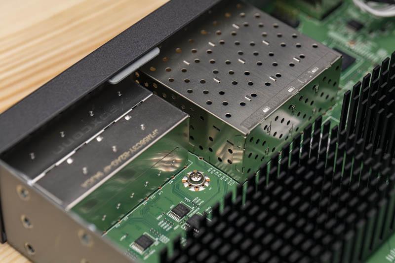 Netgear M4300 8X8F Internal View Ports