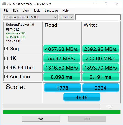 Rocket NVMe 4.0 500GB ASSSD 10GB