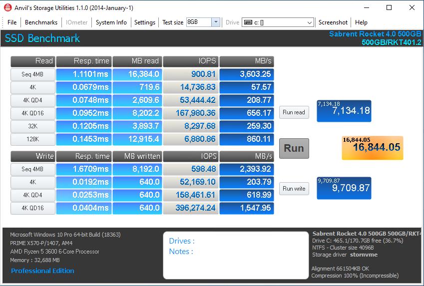 Rocket NVMe 4.0 500GB Anvil 8GB