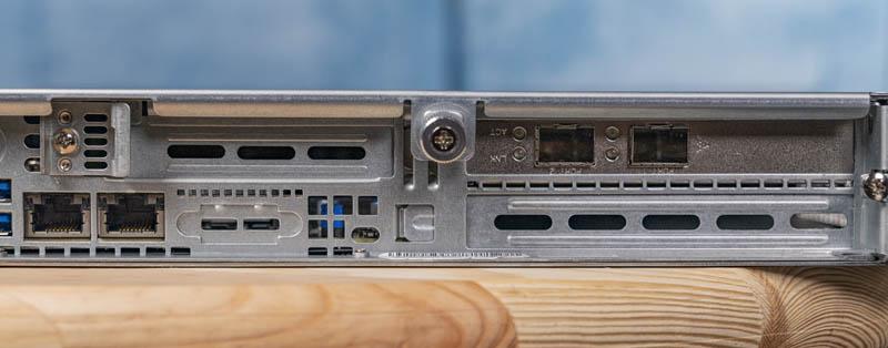 Supermicro SYS 1029P WTR Rear PCIe IO Slots