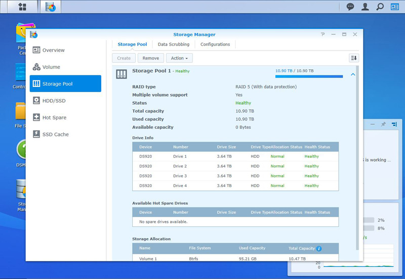 Synology DS920+ Storage Manager