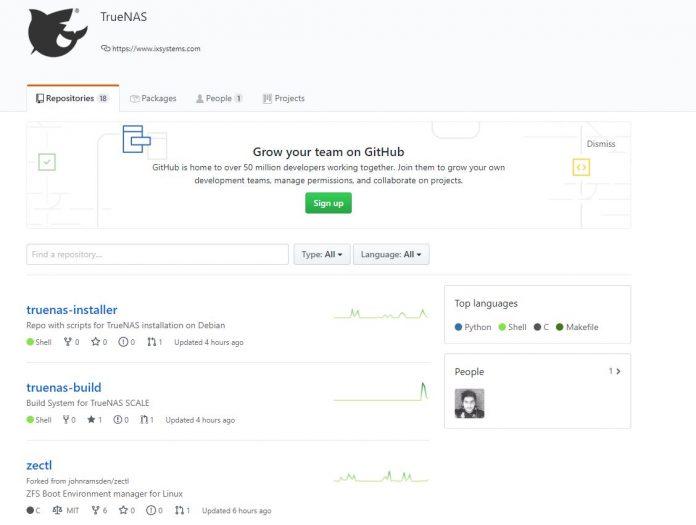 IXsystems TrueNAS Scale Github