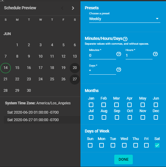 TrueNAS Scrub Tasks Scheduling Page