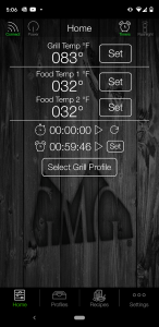 GMG WiFi Controlled App