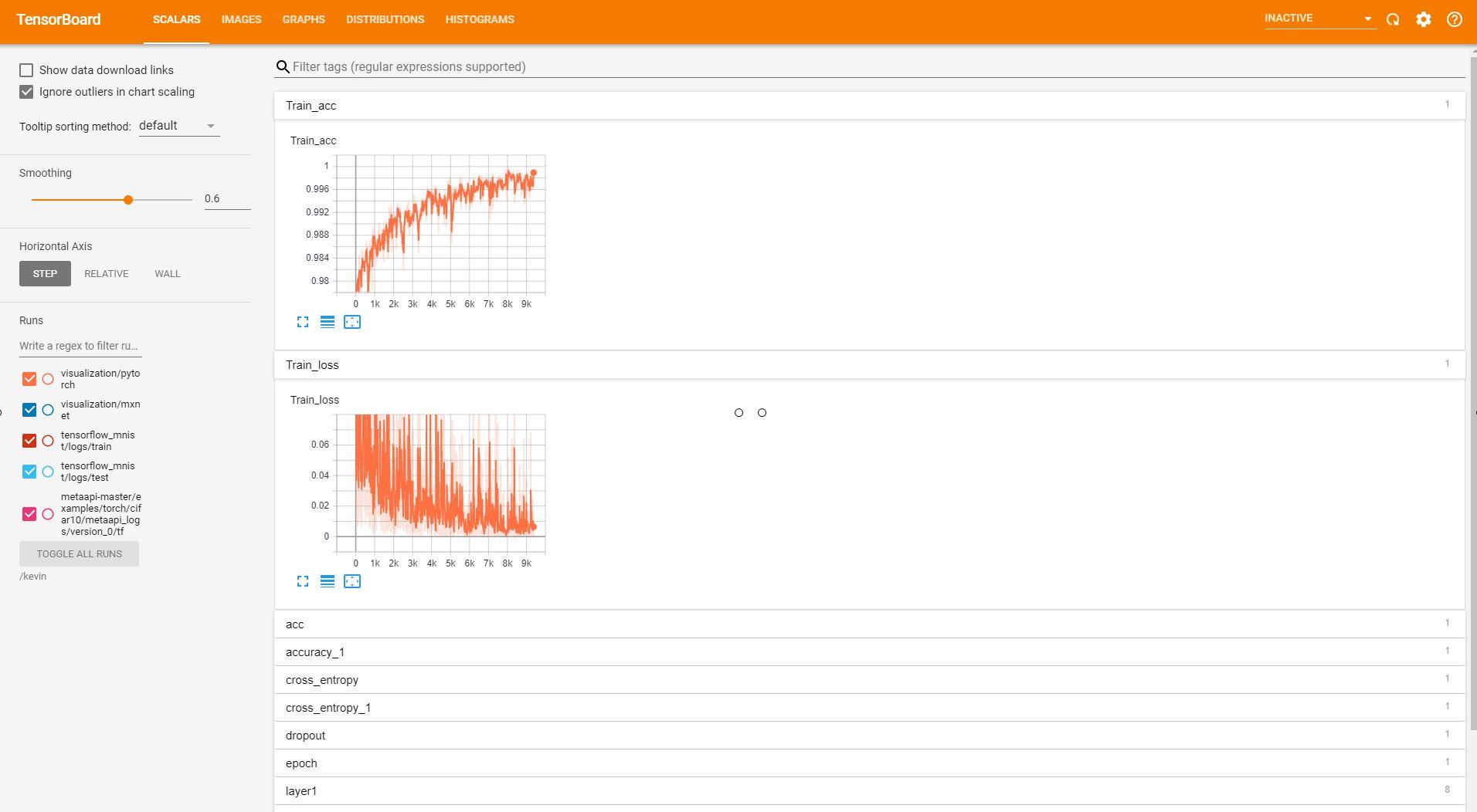 Inspur AIStation User Development Platform Visualization Tensorboard