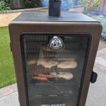 Pit Boss Pro 4 Series Smoker In Action