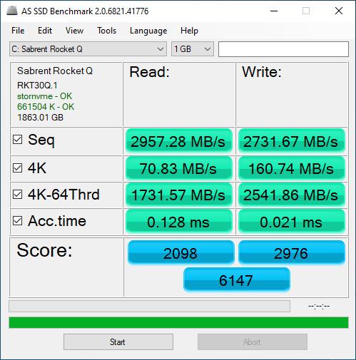 Sabrent Rocket Q 2TB ASSSD 1GB