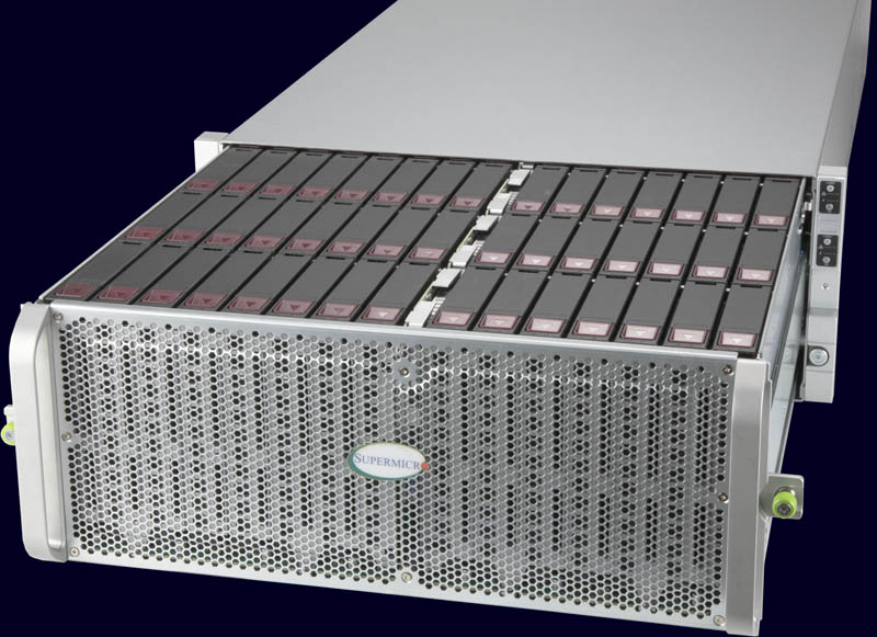 Supermicro SuperStorage SSG 6049SP DE1CR60 Front Three Quarter Pulled Out