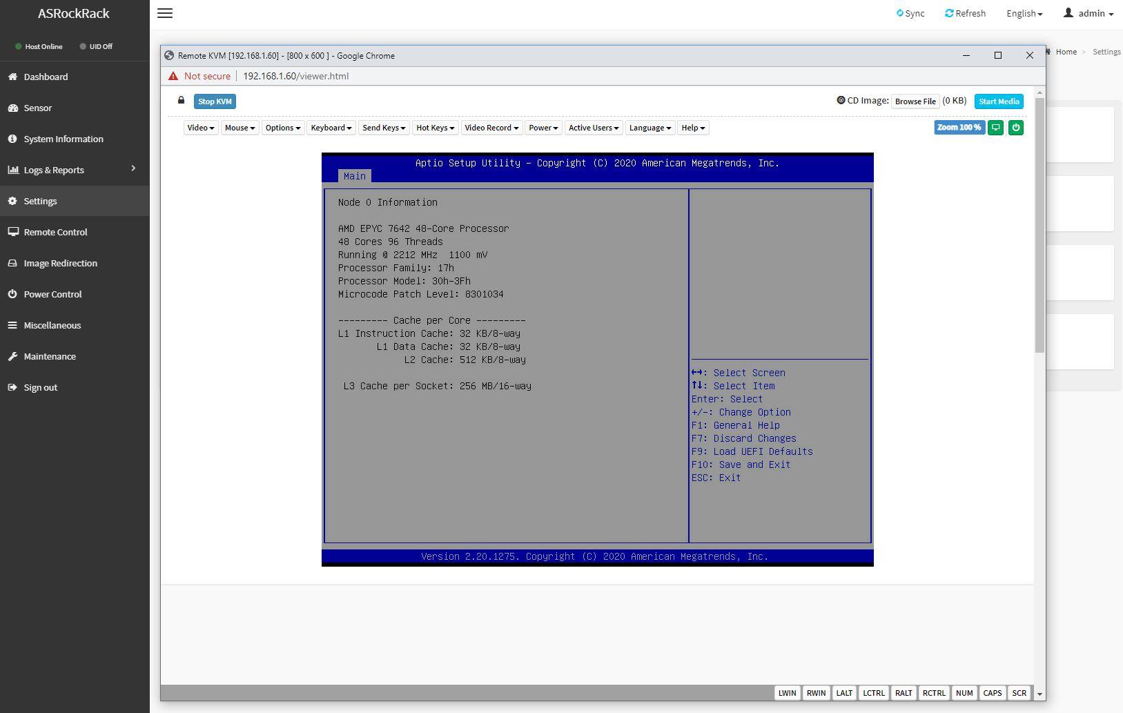 ASRock Rack ROMED8 2T IPMI HTML5 IKM BIOS