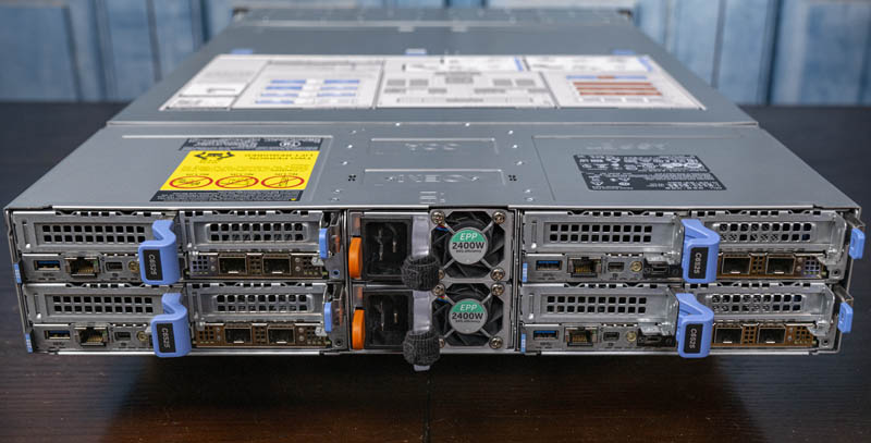 Dell EMC PowerEdge C6525 Chassis Rear With Nodes