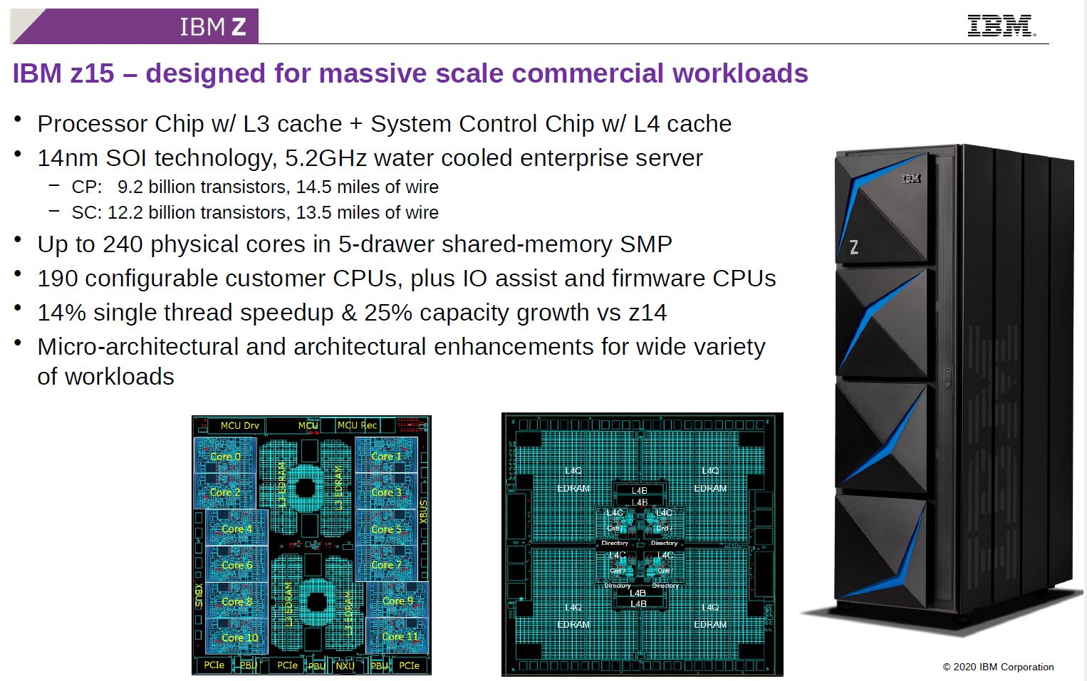 Hot Chips 32 IBM Z15 Overview