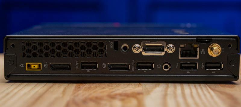 Lenovo ThinkCentre M715q Rear IO