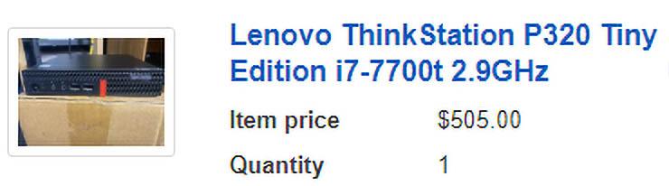 Lenovo ThinkStation P320 Tiny Ebay