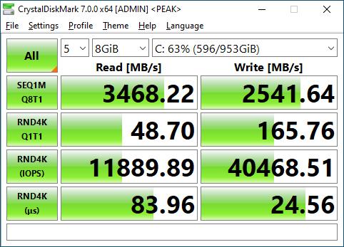 SX8200 Pro 1TB CrystalDiskMark 8GB