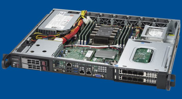 Supermicro SYS 1019P FHN2T Three Quarter Open View