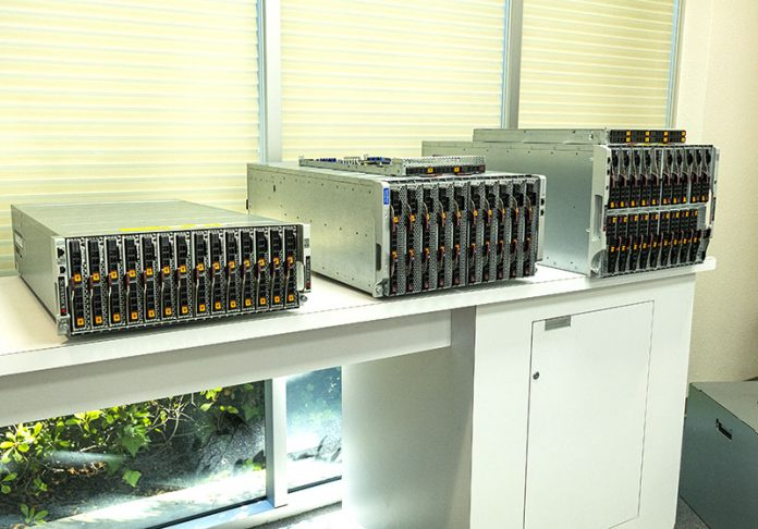 Trio Of Supermicro SuperBlade Systems At SM HQ Cover