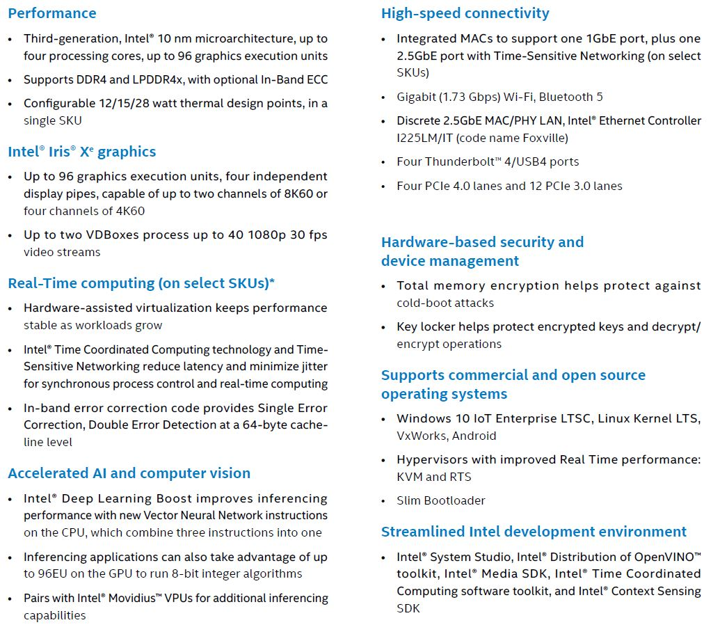 New Intel Silicon For IoT Edge 2020