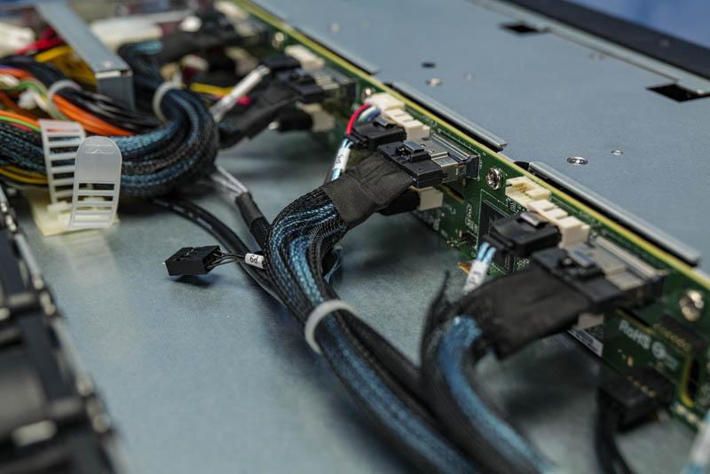 ASRock Rack 1U10E ROME2T Backplane And Cabling