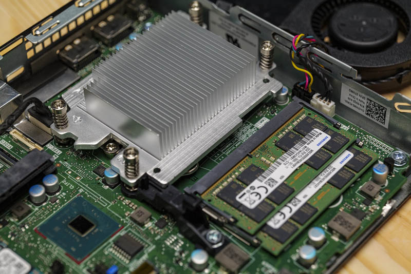 Dell OptiPlex 7070 Micro CPU Heatsink And RAM