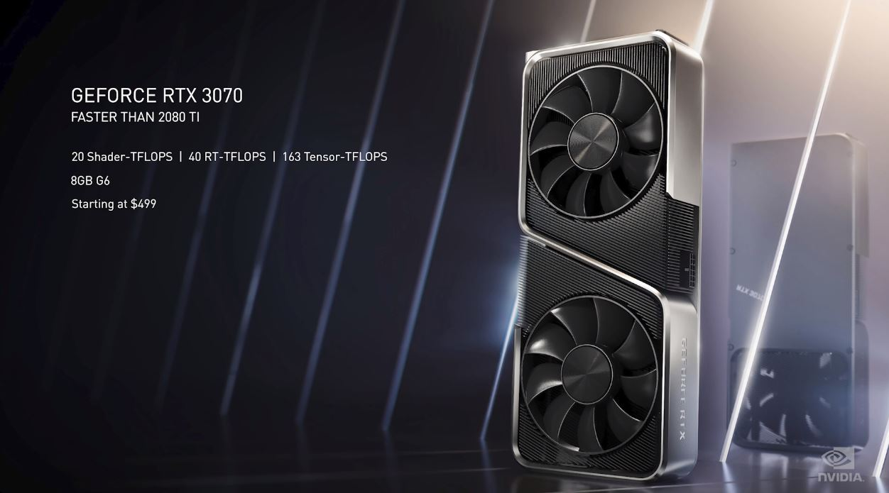 NVIDIA GeForce RTX 3070 Key Features Available In October