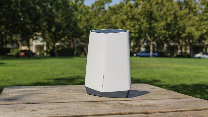 Netgear Orbi Pro WiFi 6 In Park Angle 2