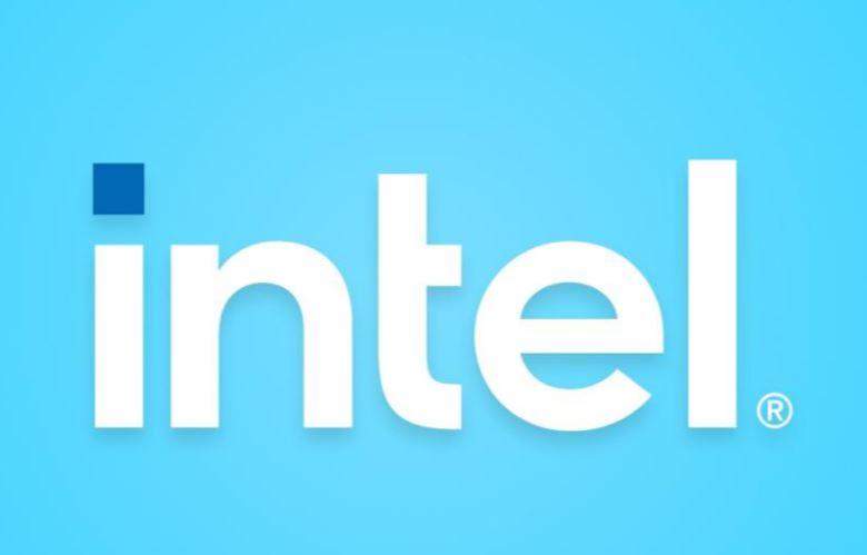 New 2020 Intel Logo Blue Background