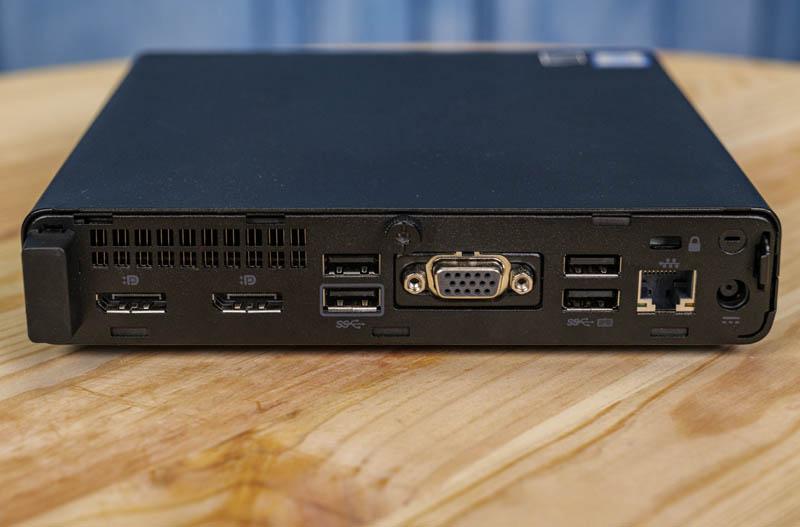 HP EliteDesk 800 G4 Mini Rear