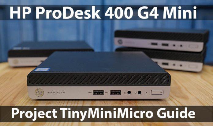 HP ProDesk 400 G4 Mini Cover