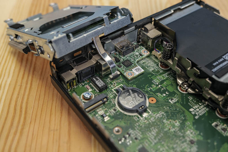 HP ProDesk 400 G4 Mini Hard Drive Assembly Removed With HDMI Optional Card