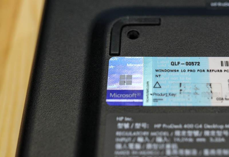 HP ProDesk 400 G4 Mini Windows 10 Pro For Refurb PCs