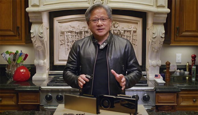 Jensen Huang CEO NVIDIA GTC 2020 October Edition With Spatulas