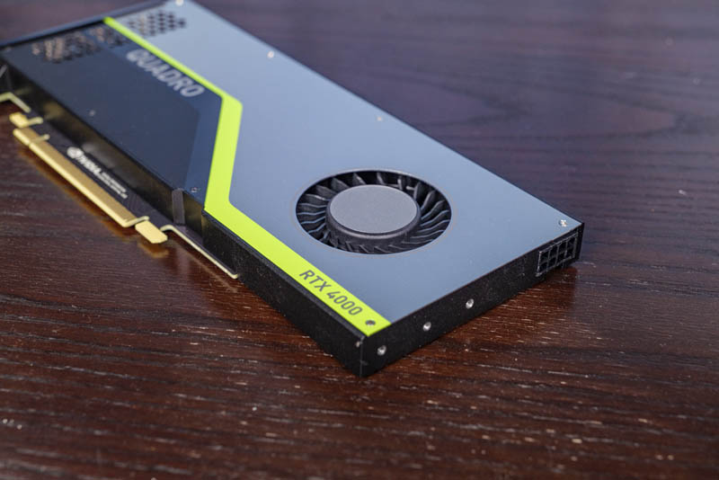 NVIDIA Quadro RTX 4000 Fan GPU Support And Power