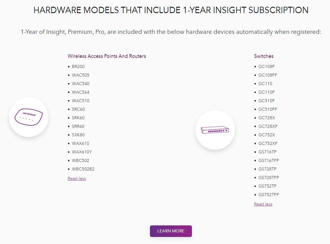 Netgear Insight Free 1 Year Devices