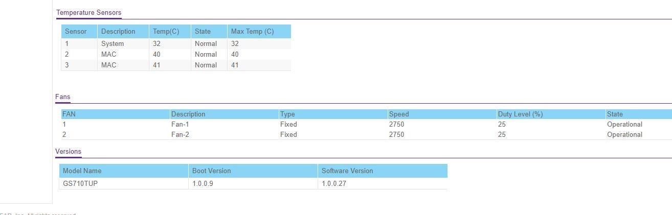 Netgear WebGUI Fan Speed Too Loud